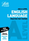 Image for Letts AQA A-level English language practice test papers