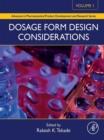 Image for Dosage form design considerations. : volume I