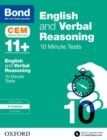 Image for English & verbal reasoning  : CEM 10 minute tests: 9-10 years