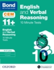 Image for English & verbal reasoning10-11 years,: CEM 10 minute tests