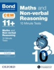 Image for Maths & non-verbal reasoning  : CEM 10 minute tests: 9-10 years