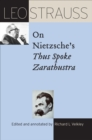 Image for Leo Strauss on Nietzsche's Thus Spoke Zarathustra