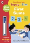 Image for Wipe-clean first sums  : start school with Topsy and Tim