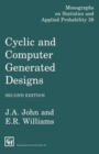 Image for Cyclic and Computer Generated Designs, Second Edition