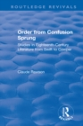 Image for Order from confusion sprung: studies in eighteenth-century literature from Swift to Cowper