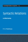 Image for Syntactic relations