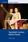 Image for Twentieth century British drama