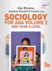 Image for Sociology for AQAVolume 2,: 2nd-Year A level
