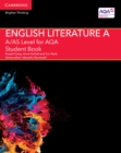 Image for A/AS level English literature A for AQA: Student book : A/AS Level English Literature A for AQA Student Book