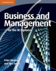 Image for Business and management for the IB Diploma