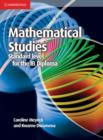 Image for Mathematical studies.: (Standard level for the IB diploma)