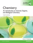 Image for Chemistry  : an introduction to general, organic, and biological chemistry
