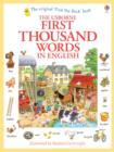 Image for The Usborne first thousand words in English