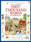 Image for The Usborne first thousand words in French