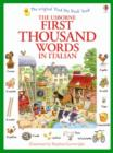 Image for The Usborne first thousand words in Italian
