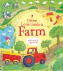 Image for Usborne look inside a farm  : with over 50 flaps to lift.