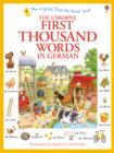 Image for The Usborne first thousand words in German