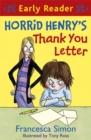 Image for Horrid Henry's thank you letter