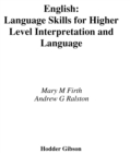 Image for Language skills for Higher English: interpretation and language