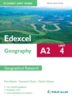 Image for Edexcel A2 geography.: (Geographical research) : Unit 4,