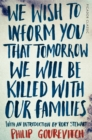 Image for We wish to inform you that tomorrow we will be killed with our families
