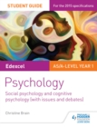 Image for Edexcel psychology student guide 1: social psychology and cognitive psychology