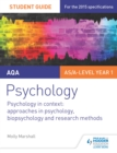 Image for AQA psychology.: approaches in psychology, biopsychology and research methods (Psychology in context) : 2,