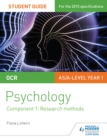 Image for OCR psychology.: (Research methods) : Student guide 1,
