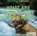 Image for What are food chains & food webs?