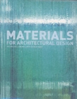 Image for Materials for architectural design