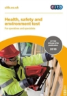 Image for Health, safety and environment test for operatives and specialists : GT100/18