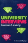 Image for University interviews  : top answers & insiders tips