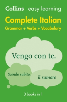 Easy learning complete Italian grammar, verbs and vocabulary