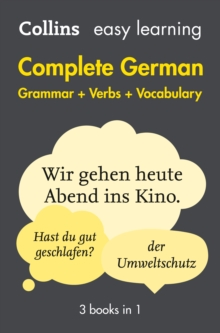 Easy learning complete German grammar, verbs and vocabulary