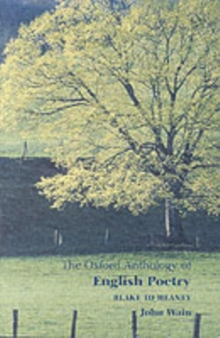 The Oxford anthology of English poetryVol. 2: Blake to Heaney