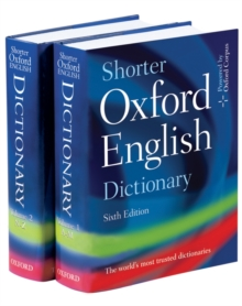 Shorter Oxford English dictionary  : on historical principles