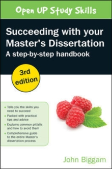 Succeeding with your master's dissertation  : a step-by-step handbook