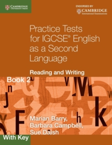 Practice Tests for IGCSE English as a Second Language: Reading and Writing Book 2, with Key - Barry, Marian