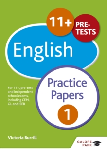 Image for 11+ English practice papers 1  : for 11+, pre-test and independent school exams including CEM, GL and ISEB