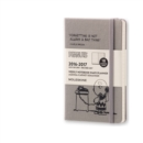 Image for 2017 Moleskine Peanuts Limited Edition Dark Grey Pocket Weekly Notebook 18 Month Diary Hard