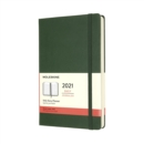 Image for Moleskine 2021 12-Month Daily Large Hardcover Diary : Myrtle Green