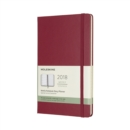 Image for 2018 Moleskine Berry Rose Large Weekly Notebook Diary 12 Months Hard