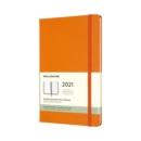 Image for Moleskine 2021 12-Month Weekly Large Hardcover Diary : Cadmium Orange