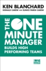 Image for The one minute manager builds high performing teams