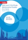 Image for Collins AQA core mathsLevel 3 mathematical studies,: Teacher guide