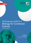 Image for OCR gateway GCSE (9-1) biology for combined science: Student book