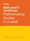 Image for AQA level 3 certificate mathematical studies in a week