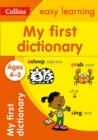 Image for My first dictionary ages 4-5