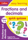 Image for Fractions & decimals quick quizzes: Ages 7-9