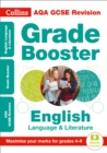 Image for AQA GCSE English language and English literature grade booster for grades 4-9